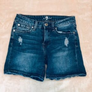 7 for All Mankind Jean Shorts Size 12